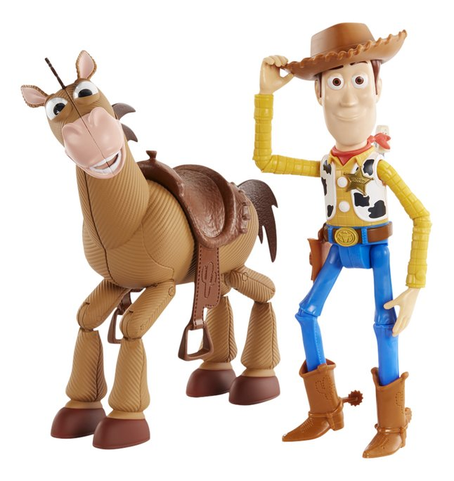 Figurine articulée Toy Story 4 Woody & Pil-Poil