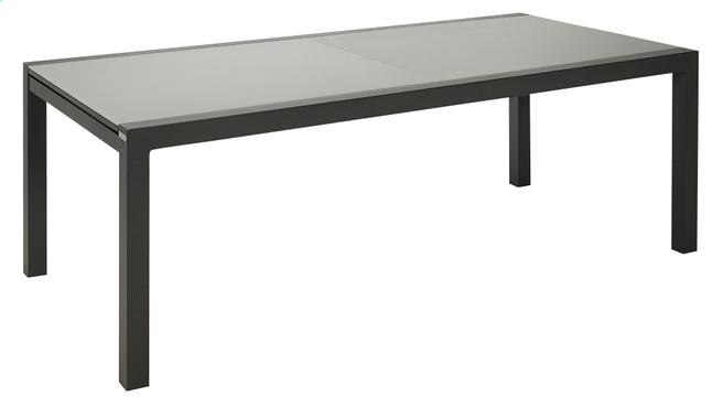 Image pour Jati & Kebon table à rallonge Livorno gris clair/anthracite 220 x 106 cm à partir de ColliShop