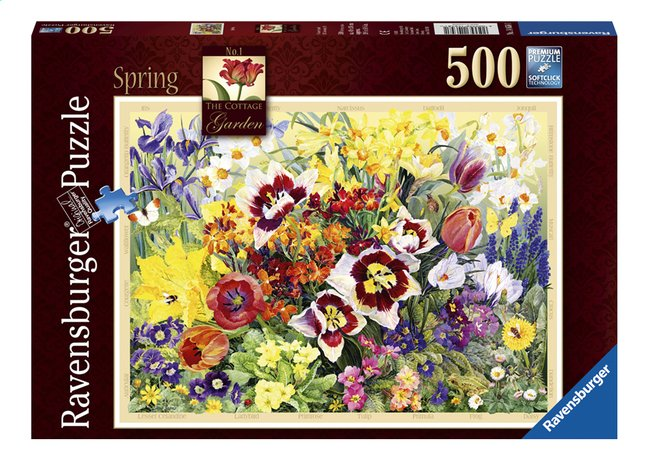 Afbeelding van Ravensburger puzzel The Cottage Garden in Spring from ColliShop