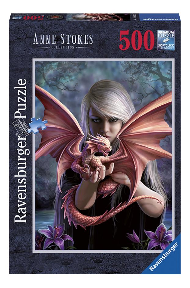 Afbeelding van Ravensburger puzzel Anne Stokes: Het drakenmeisje from ColliShop