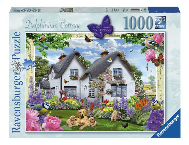 Afbeelding van Ravensburger puzzel Delphinium Cottage from ColliShop