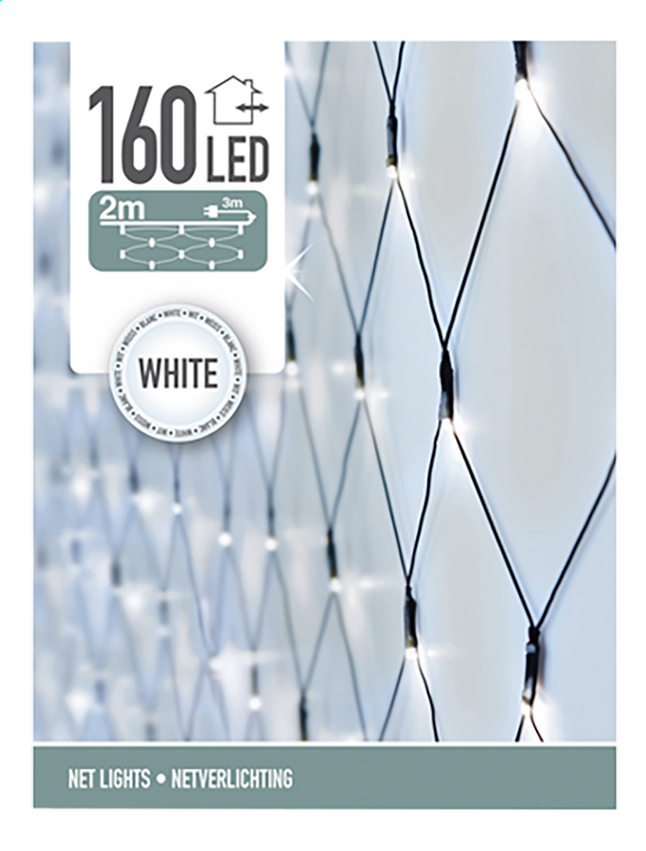 Filet lumineux 160 lampes blanc froid