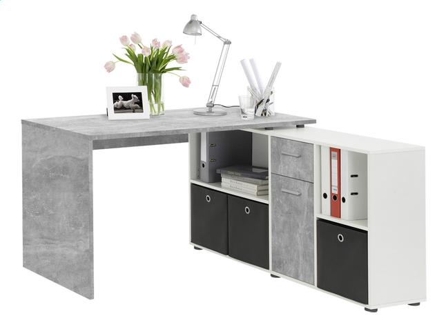 Bureau lex noir bureau lex gris béton collishop bureau a angle
