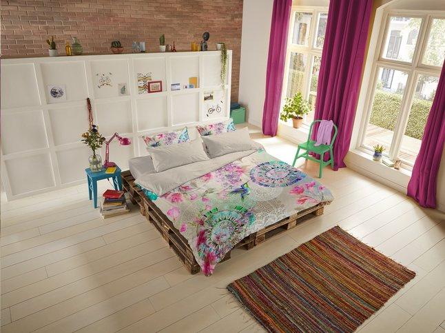 Image pour Hip Housse de couette Pallavi satin de coton 140 x 220 cm à partir de ColliShop