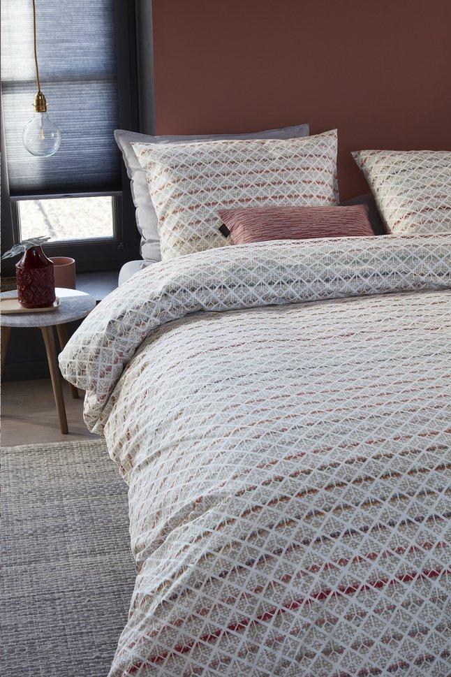 Afbeelding van Beddinghouse Dekbedovertrek Woven Lines katoen 240 x 220 cm from ColliShop