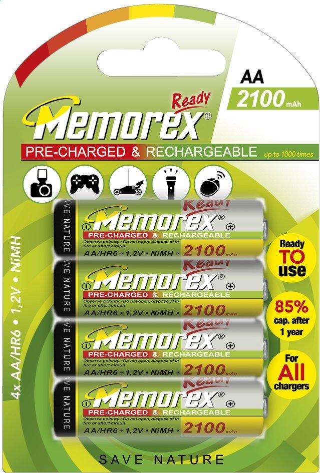 Image pour Memorex 4 piles AA Ready rechargeables à partir de ColliShop