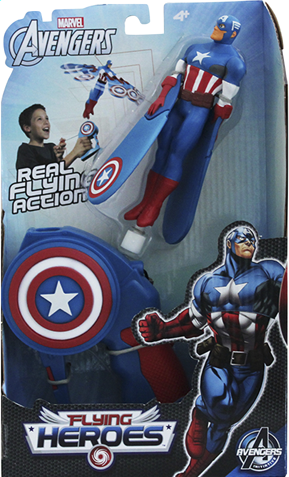 Afbeelding van Figuur Avengers Flying Heroes Captain America from ColliShop