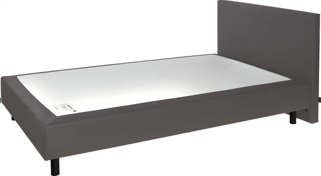 Afbeelding van Boxspring Sophie lederlook taupe from ColliShop