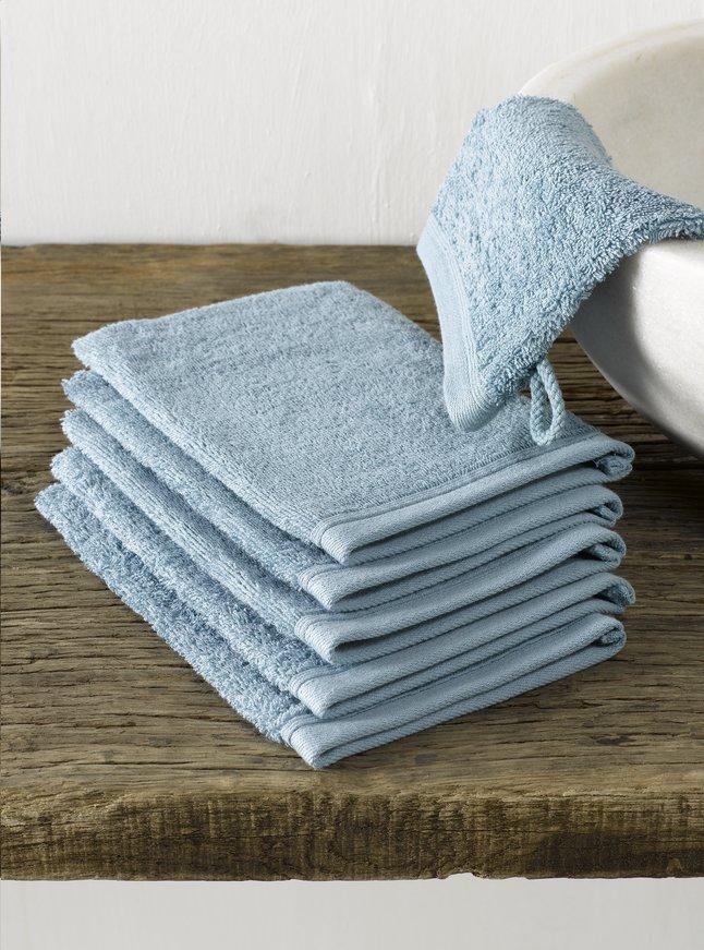 Image pour De Witte Lietaer 6 gants de toilette Imagine bleu à partir de ColliShop