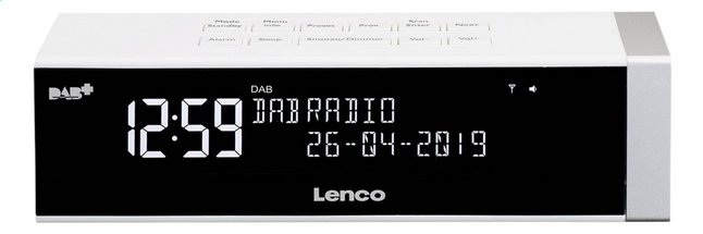 Afbeelding van Lenco wekkerradio CR-630 wit from ColliShop