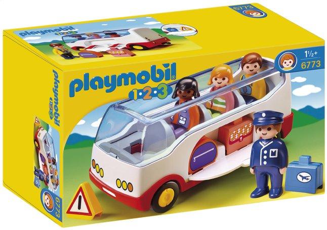 Image pour Playmobil 1.2.3 6773 Autocar de voyage à partir de ColliShop