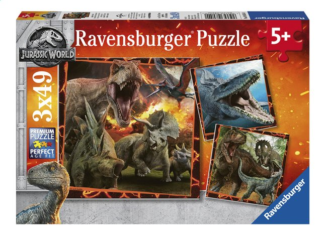 Afbeelding van Ravensburger puzzel 3-in-1 Jurassic World Fallen Kingdom from ColliShop