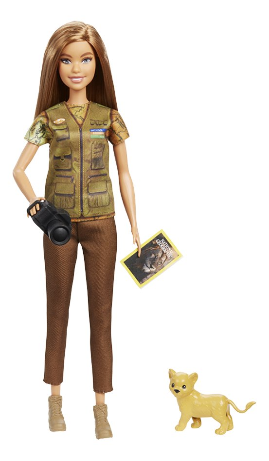 Barbie poupée mannequin  Careers National Geographic Photojournaliste