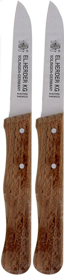 Image pour EL. Herder Éplucheur bois foncé 7,5 cm - 2 pièces à partir de ColliShop