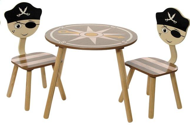 Image pour Table avec 2 chaises Pirate à partir de ColliShop