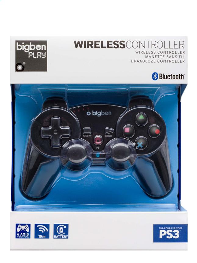Afbeelding van bigben draadloze controller PS3 zwart from ColliShop