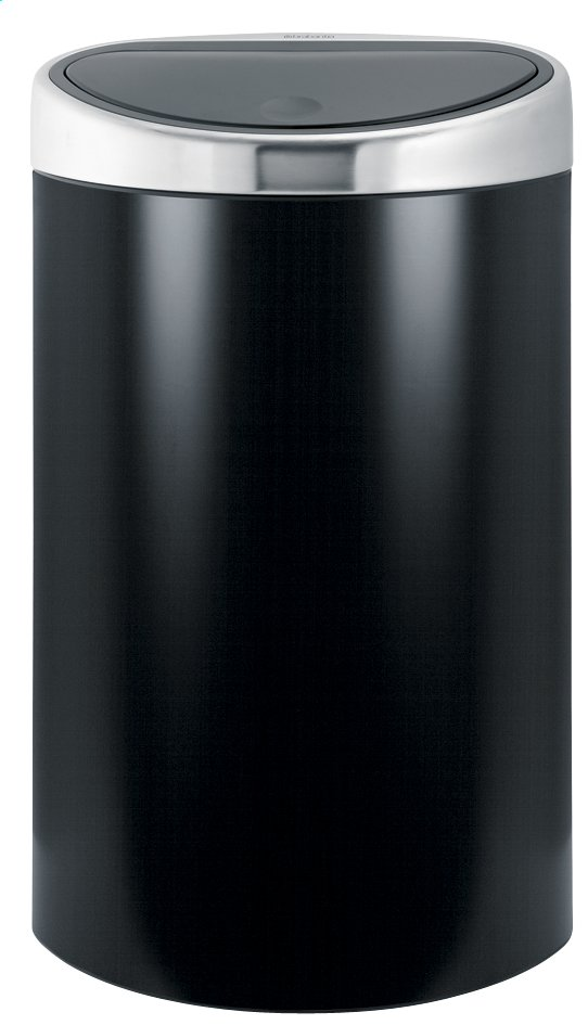 brabantia poubelle touch bin 40 l noir mat collishop. Black Bedroom Furniture Sets. Home Design Ideas