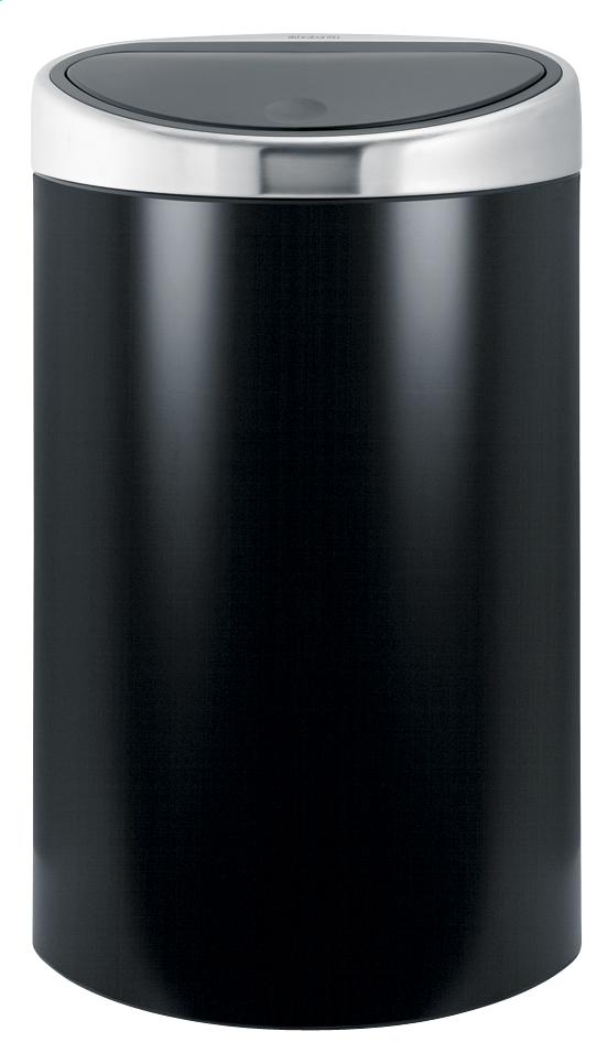 Brabantia poubelle touch bin 40 l noir mat collishop - Poubelle brabantia 50 l ...