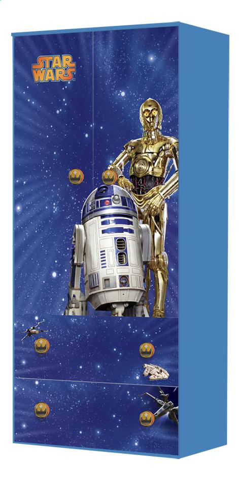 Image pour Garde-robe 2 portes et 2 tiroirs Star Wars à partir de ColliShop