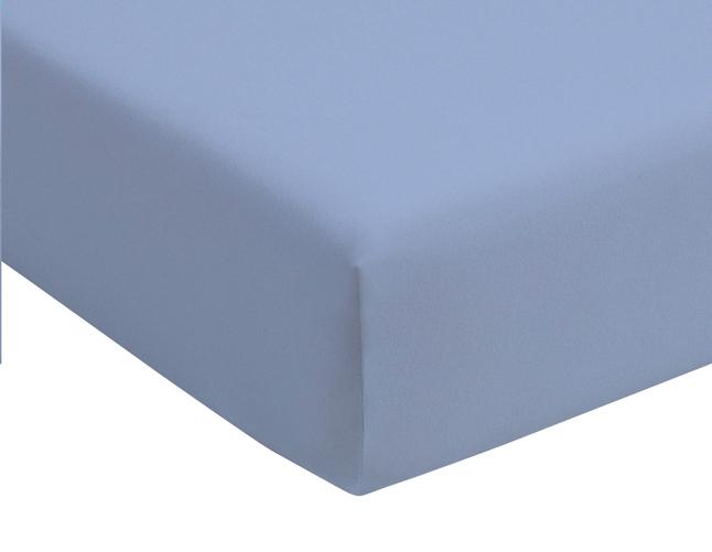 Image pour Romanette Drap-housse bleu jersey double 180 x 200 cm à partir de ColliShop