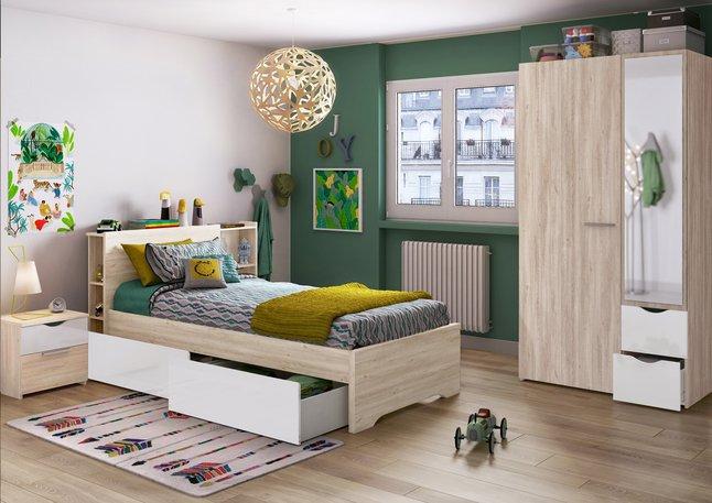 Afbeelding van 2-delige slaapkamer Young met halfhoogslaper + 2-deurskast from ColliShop