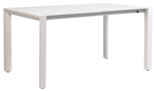 Image pour Table de jardin à rallonge Torrent blanc 150 x 90 cm à partir de ColliShop
