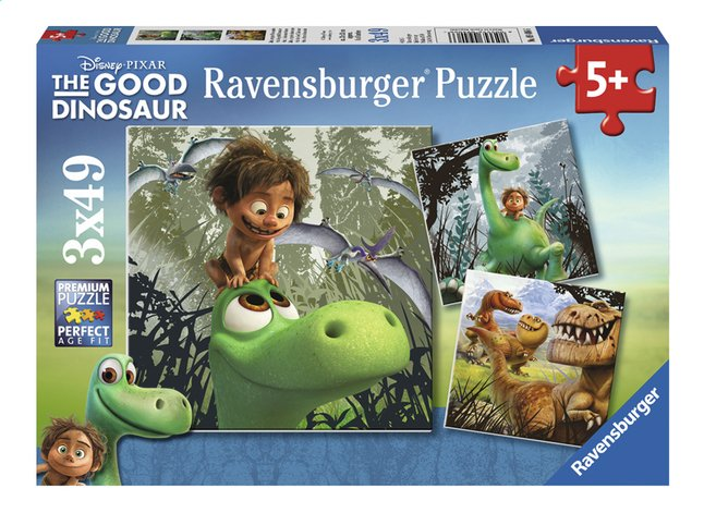 Afbeelding van Ravensburger puzzel 3-in-1 The Good Dinosaur from ColliShop