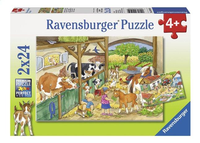 Afbeelding van Ravensburger puzzel 2-in-1 Vrolijk boerderijleven from ColliShop