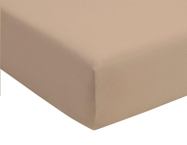 Image pour Romanette Drap-housse camel jersey double 180 x 200 cm à partir de ColliShop