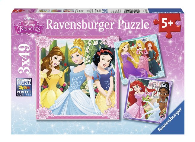 Afbeelding van Ravensburger puzzel 3-in-1 Disney Princess from ColliShop