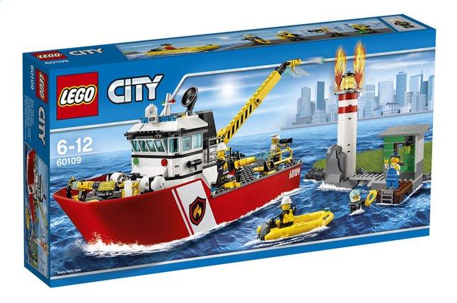 Afbeelding van LEGO City 60109 Brandweerboot from ColliShop