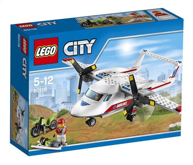 Image pour LEGO City 60116 L'avion de secours à partir de ColliShop