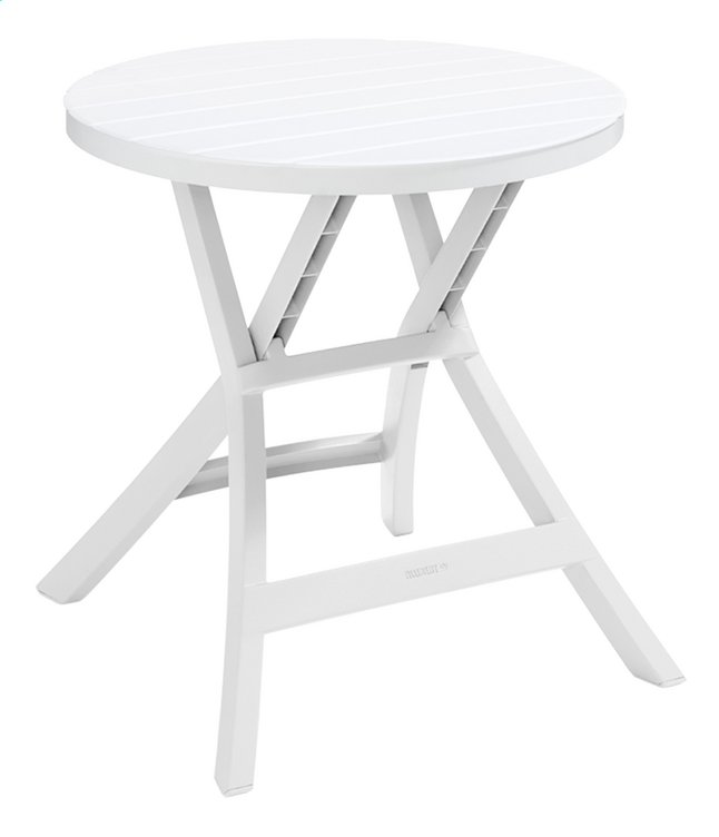 Allibert table bistro oregon blanc diam tre 70 cm collishop - Table de jardin pop up mulhouse ...