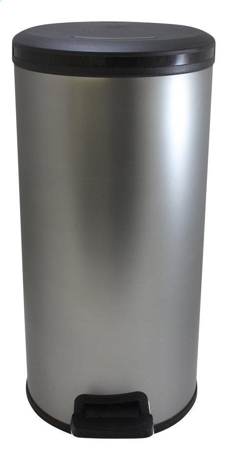 Image pour Curver Poubelle ronde à pédale Decobin argenté 30 l à partir de ColliShop
