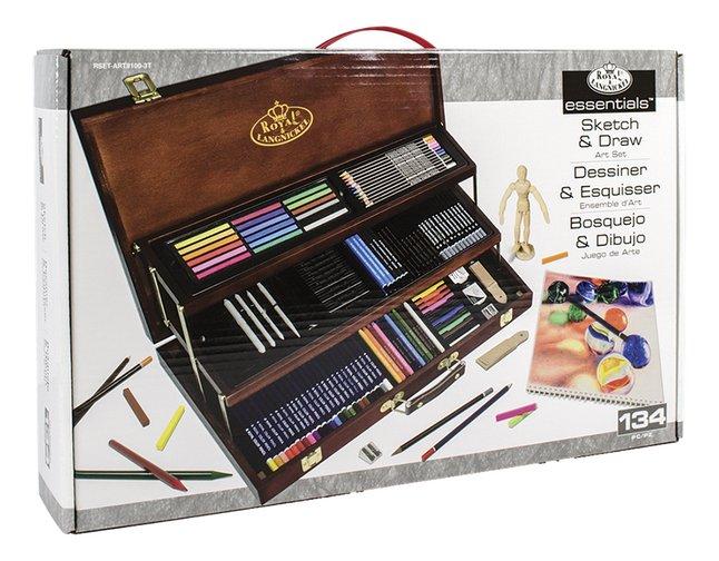 Image pour Royal & Langnickel coffret à dessin Deluxe en bois - 134 pièces à partir de ColliShop