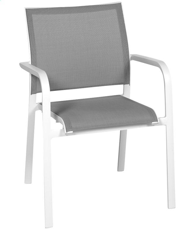 Image pour Chaise de jardin Laos gris clair/blanc à partir de ColliShop