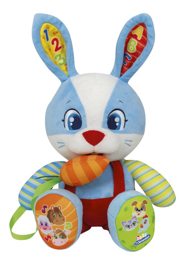baby Clementoni peluche interactive Lillo the Rabbit bilingue FR/NL