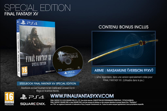Afbeelding van PS4 Final Fantasy XV Special Edition Steelbook ENG/FR from ColliShop