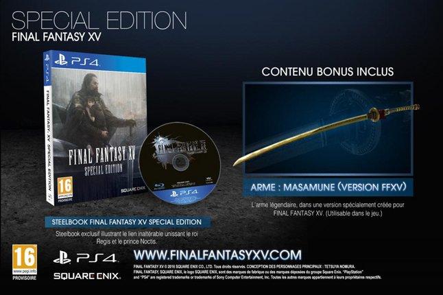 Image pour PS4 Final Fantasy XV Special edition Steelbook FR/ANG à partir de ColliShop