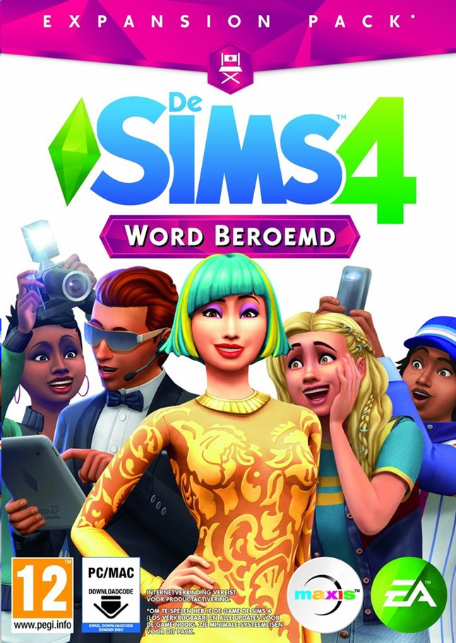Afbeelding van PC De Sims 4 Word Beroemd Expansion Pack NL from ColliShop