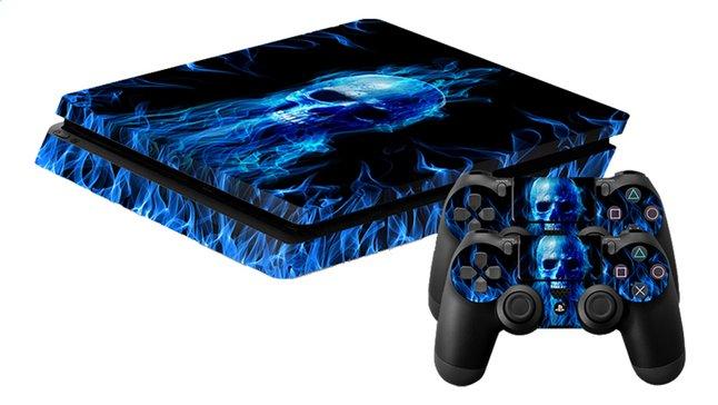 Image pour PS4 Slim skins Fire Skull pour console + 2 skins pour manettes à partir de ColliShop