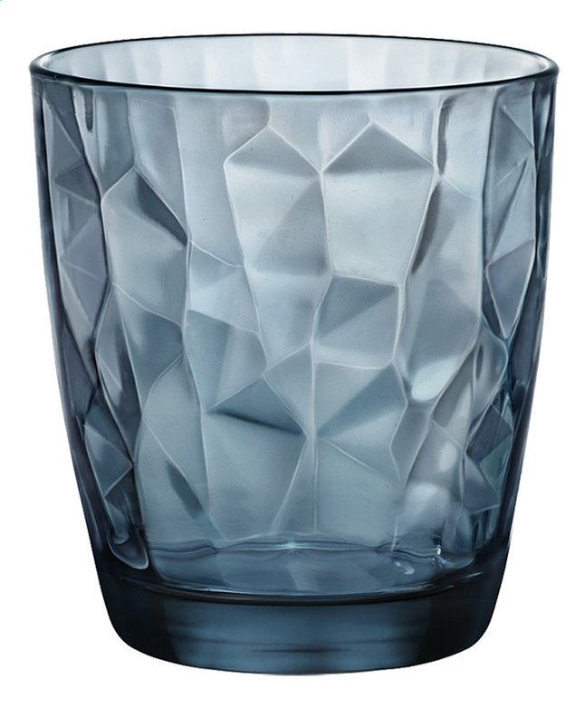 Afbeelding van Bormioli Rocco 6 waterglazen Diamond Tumbler 39 cl ocean from ColliShop