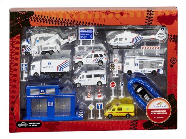 Afbeelding van DreamLand voertuigenset Politie België from ColliShop