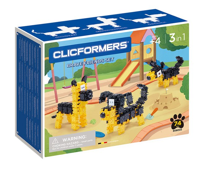 Clicformers Brave Friends set 3-in-1