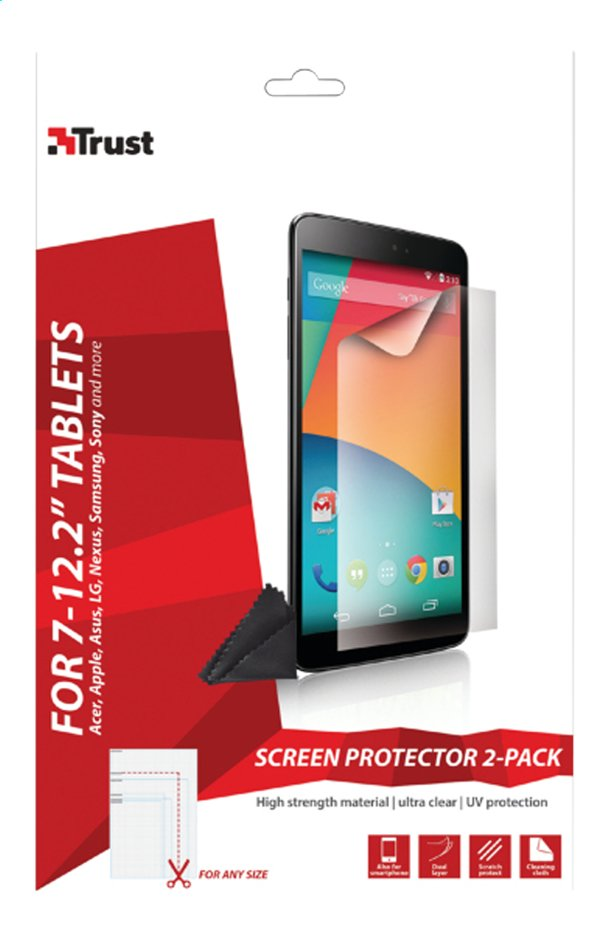 Afbeelding van Trust screen protector universeel voor tablets from ColliShop