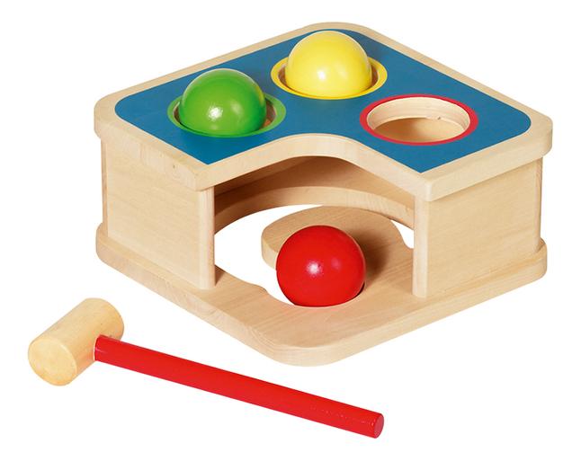 Goki houten klopbank 2-in-1