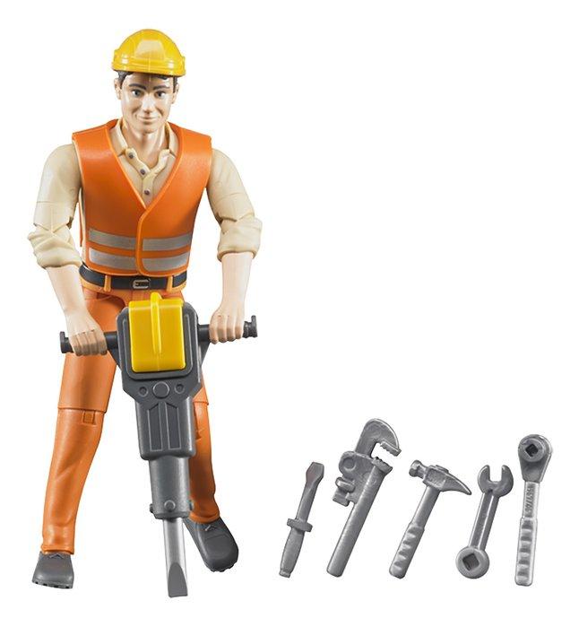 Image pour Bruder figurine Bworld Ouvrier de voirie à partir de ColliShop