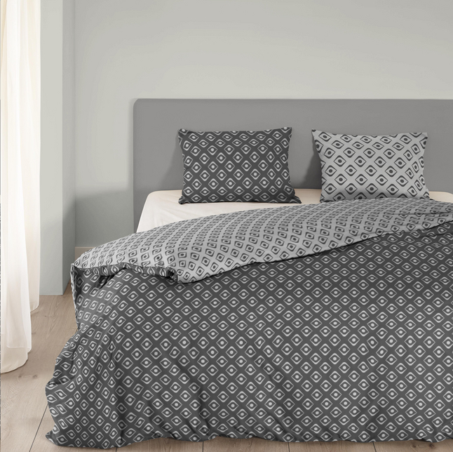 Image pour Good Morning Housse de couette Pattern coton anthracite 140 x 220 cm à partir de ColliShop