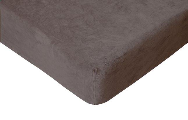 Image pour Romanette Drap-housse velours taupe à partir de ColliShop