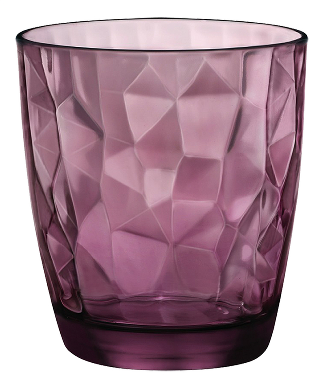 Afbeelding van Bormioli Rocco 6 waterglazen Diamond Tumbler 39 cl paars from ColliShop
